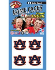 e8c04e090 Auburn University (AU) Tigers – Water Based Temporary Spirit Tattoos –  4-Piece – Burnt Orange/Navy Blue AU Logo