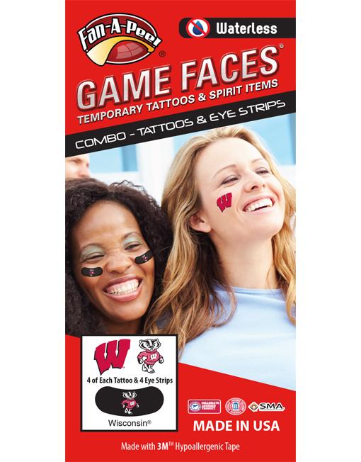 University Of Wisconsin Uw Badgers Waterless Peel Stick